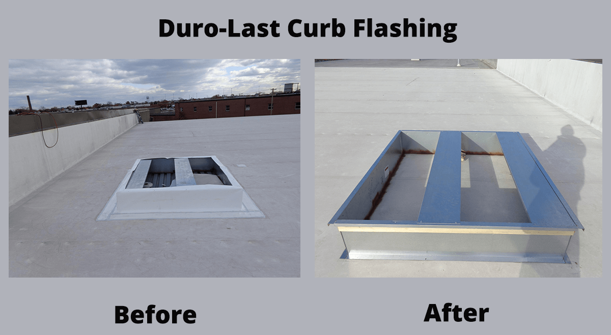 Duro-Last Curb Flashing Before and After