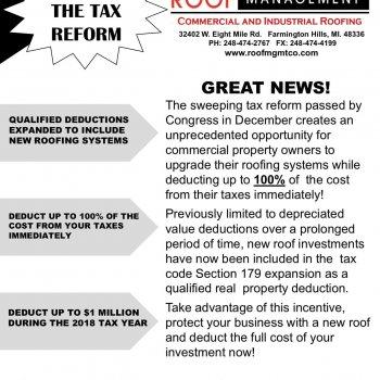 Tax reform flyer